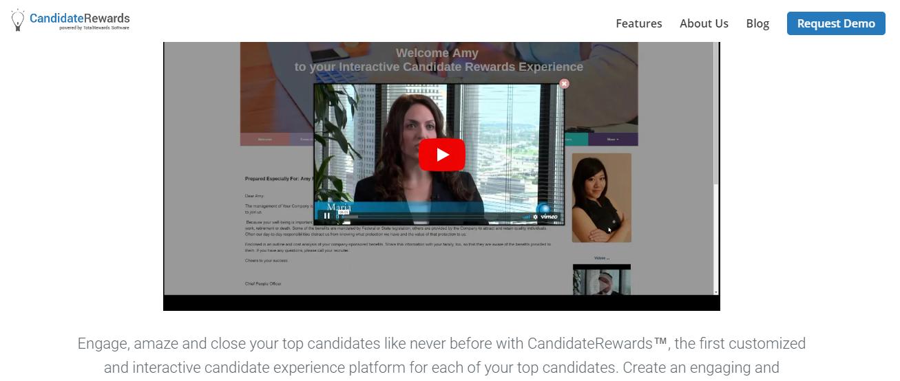 Rewards Candidate recruitment software