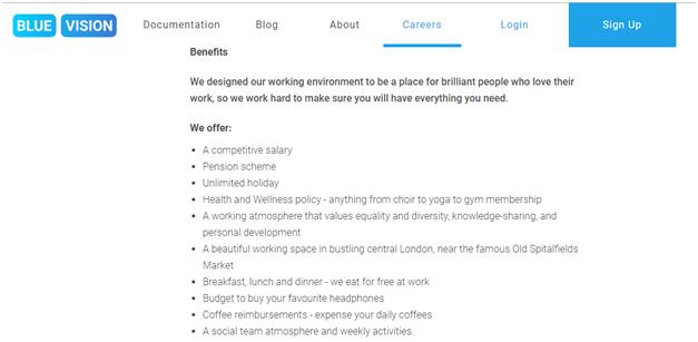 bluevisionlabs Recruitment in Startups