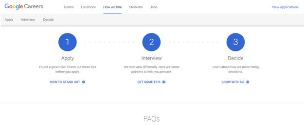 careers google Recruitment Process